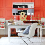 "Incorporating the ""Living Coral"" of Pantone to your decoration."